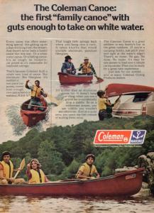 2 Coleman Vintage Canoe Ad